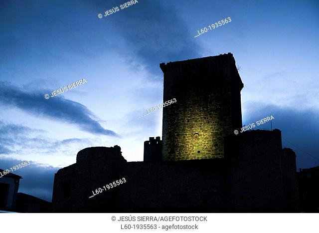 Castle, Miranda del Castañar, Sierra de Francia, Salamanca province, Castilla-Leon, Spain