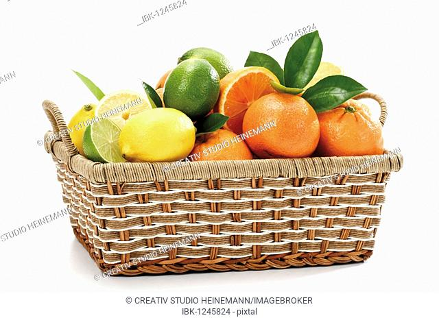 Citrus fruits in a basket