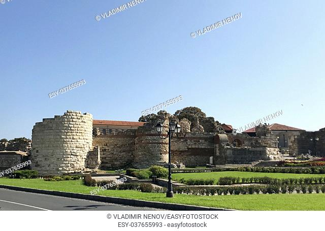 Nesebar, Bulgaria: Western Fortress Wall in the UNESCO world heritage town