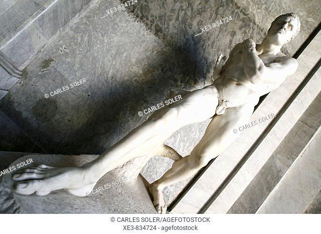 Escultura de un atleta romano, Museo Vaticano, Italia