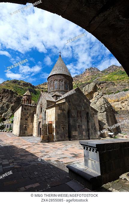 4th century Geghard Monastery, Kotayk Province, Yerevan, Armenia, Caucasus, Asia, Unesco World Heritage Site