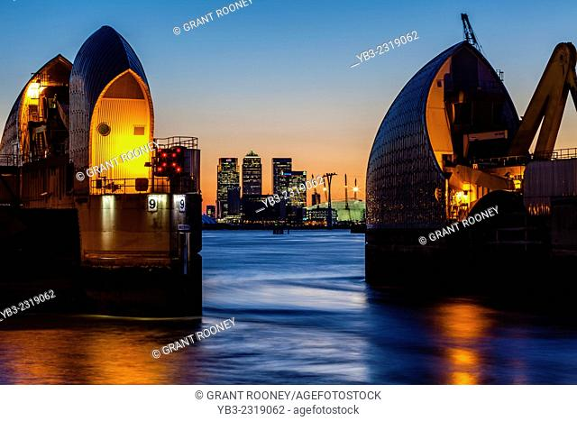 The Thames Barrier, London, England