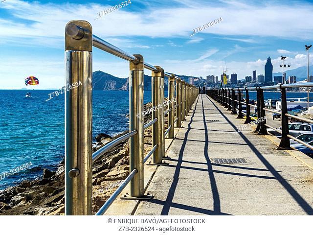 View of a bridge in Benidorm port, Alicante province, Spain
