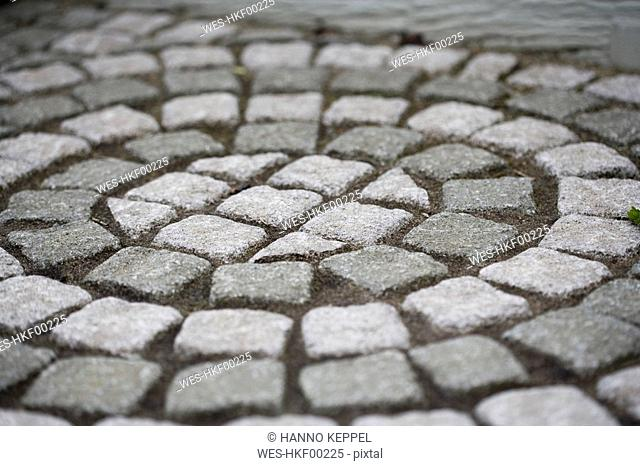 Stone pavement, full frame