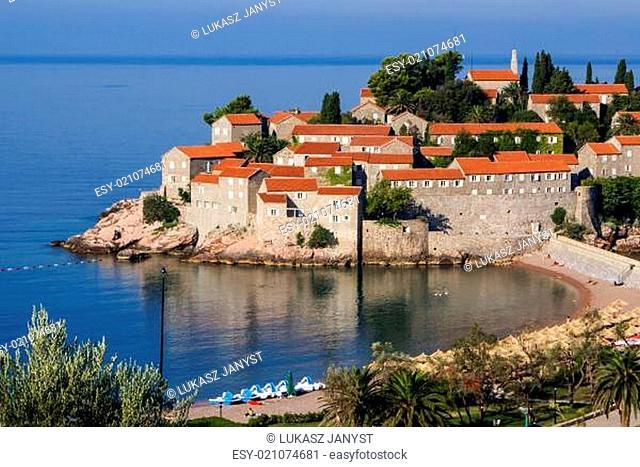 Sveti Stefan is a islet nearby Budva in Montenegro
