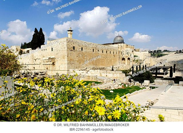 Al-Aqsa Mosque and Jerusalem Archaeological Park, Ophel, Jerusalem, Israel, Middle East