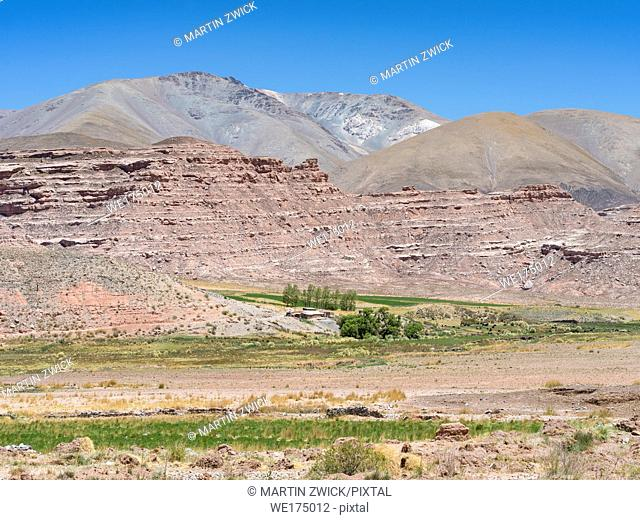 The Altiplano in Argentina, landscape along RN 40 near Mtn. Pass Abra del Acay (4895m). South America, Argentina