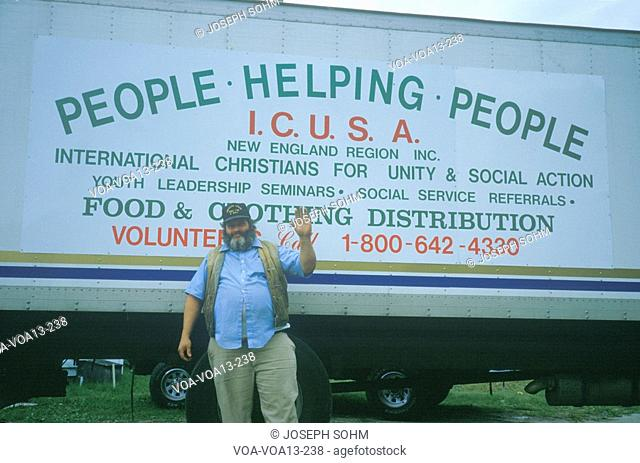 Volunteer collecting donations