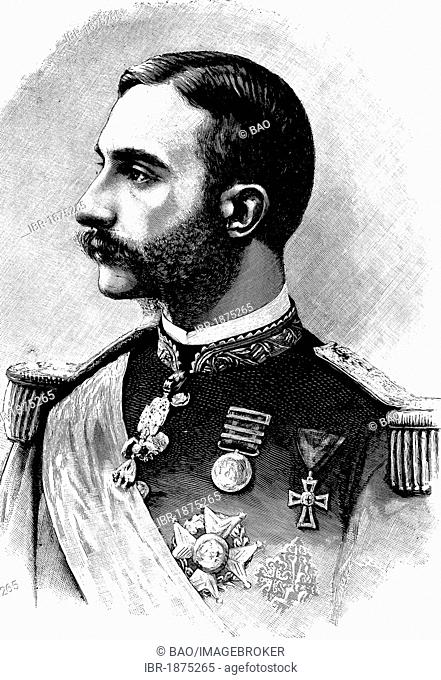 Alfonso XII (1857-1885), King of Spain, historical illustration, circa 1886