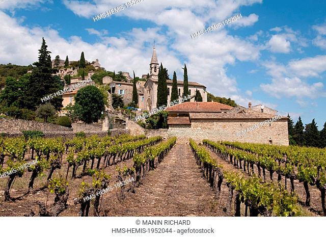 France, Gard, Ceze Valley, village of la Roque sur Ceze labelled Les Plus Beaux Villages de France (The Most beautiful Villages of France)