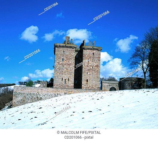Borthwick Castle. Midlothian. Scotland