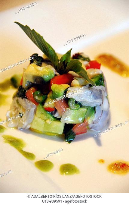 Thai style fish, ceviche