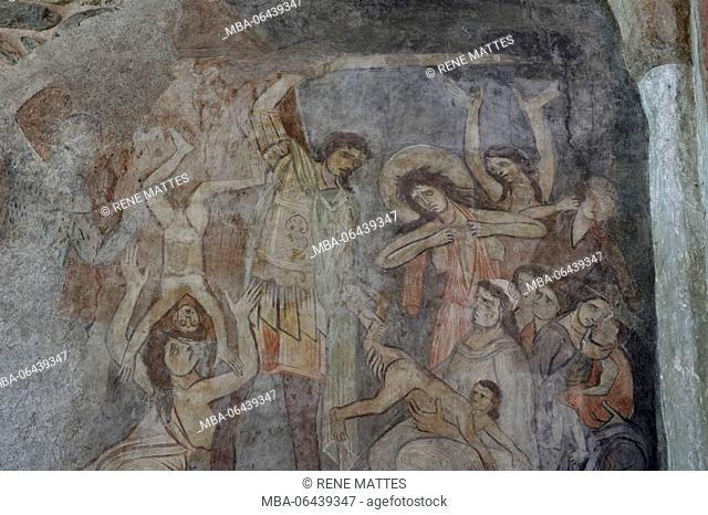 "France, Savoie, Vanoise massif, Tarentaise valley, Aime, Saint Martin basilica (11th century), ""The massacre of the innocent according to a statement of Etienne..."