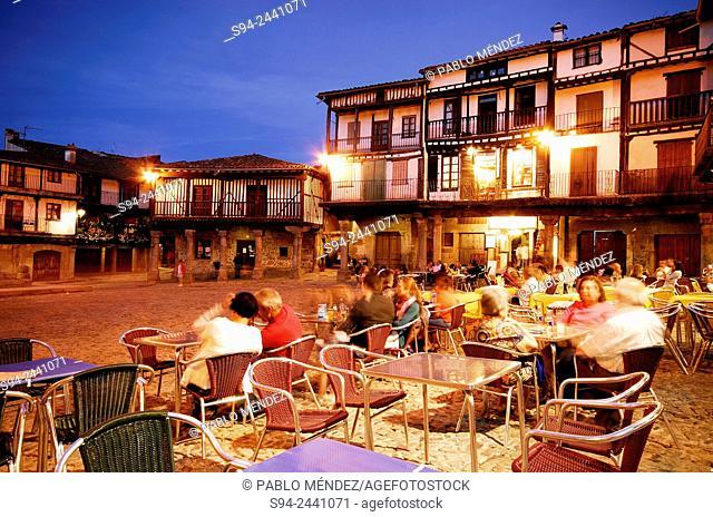 Main square of La Alberca, Salamanca, Spain