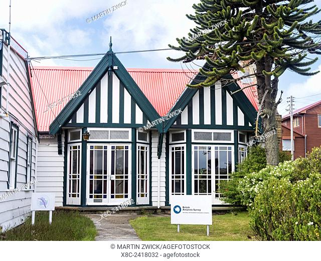 Stanley, the capital of the Falkland Islands in the South Atlantic. South America, Falkland Islands, January