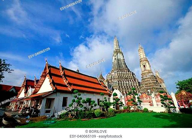 The Temple of Dawn, Wat Arun in Bangkok, Thailand