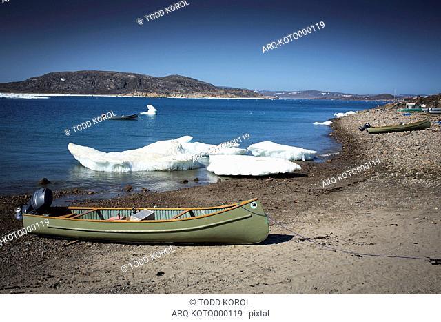 View Of Cape Dorset In Baffin Island, Nunavut, Canada