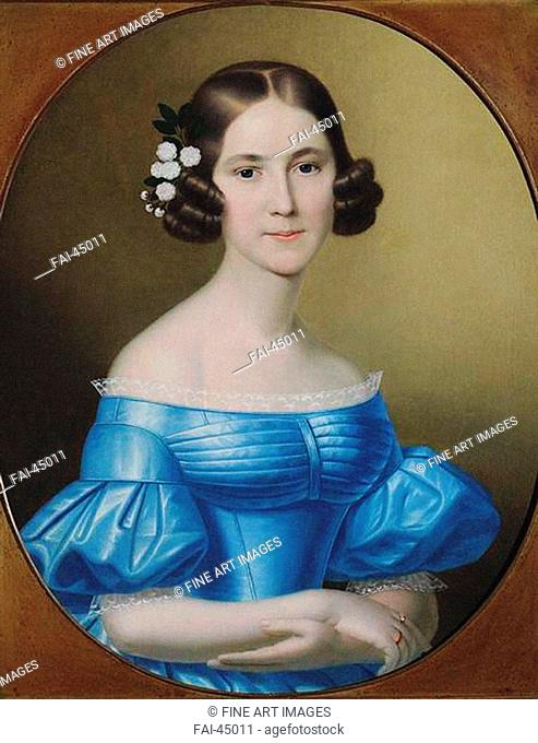 Portrait of Alexandra Mikhaylovna Apraxina (1829-1916), née Pashkova by Anonymous /Colour Lithography/Romanticism/c. 1850/Russia/Russian State Library
