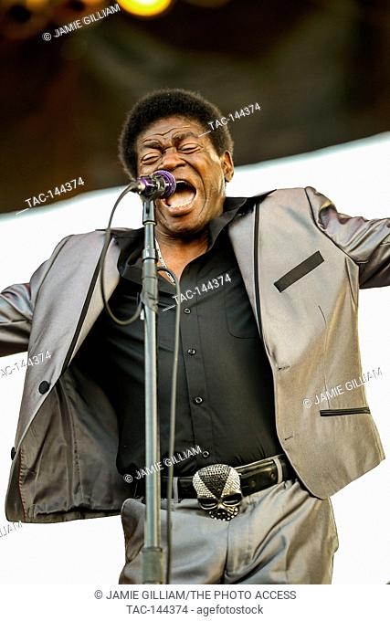Charles Bradley performs at the 2017 Beale Street Music Festival at Tom Lee Park in Memphis, Tenn. on May 5, 2017