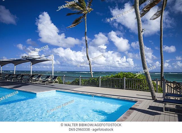 St. Kitts and Nevis, Nevis, Nisbet Beach, Nisbet Plantation Inn, former sugar plantation, swimming pool