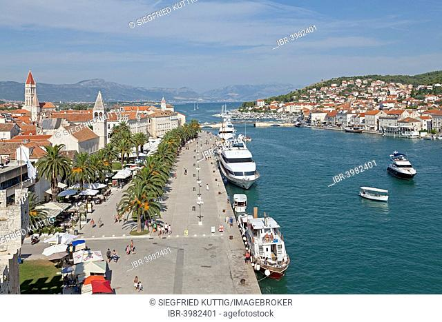 View of Trogir from Kamerlengo Castle, Trogir, Dalmatia, Croatia