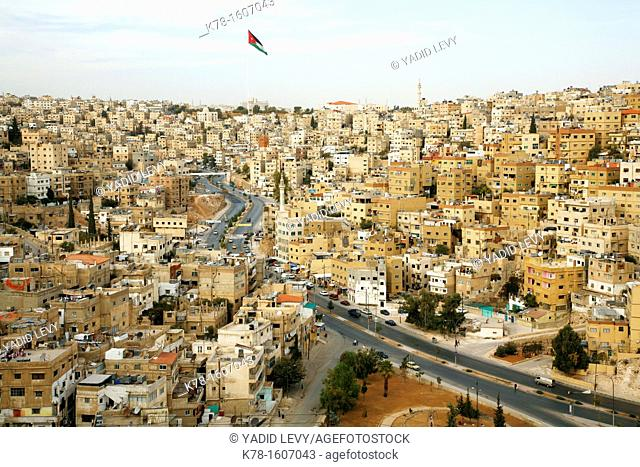 View over Amman from the Citadel, Amman, Jordan