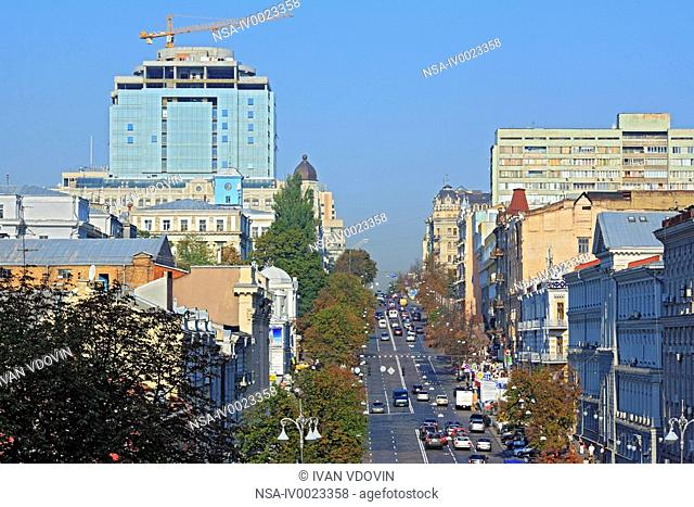 City traffic, Kiev, Ukraine