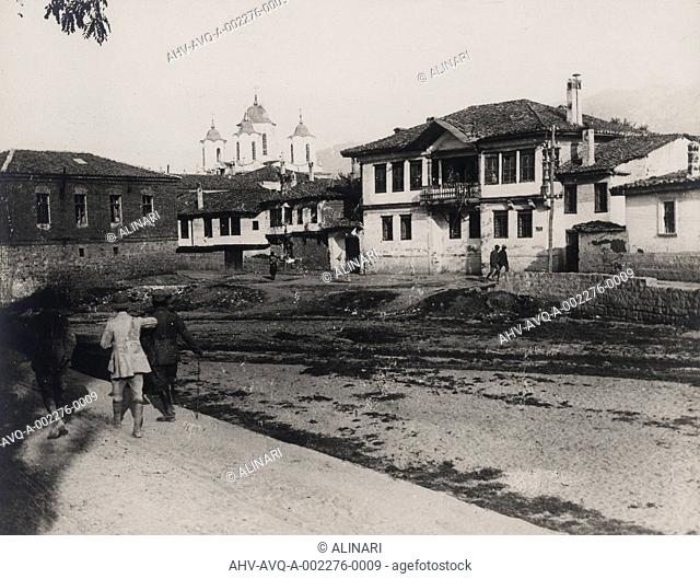 World War II: a street in Prilep in Serbia, shot 1939-1945