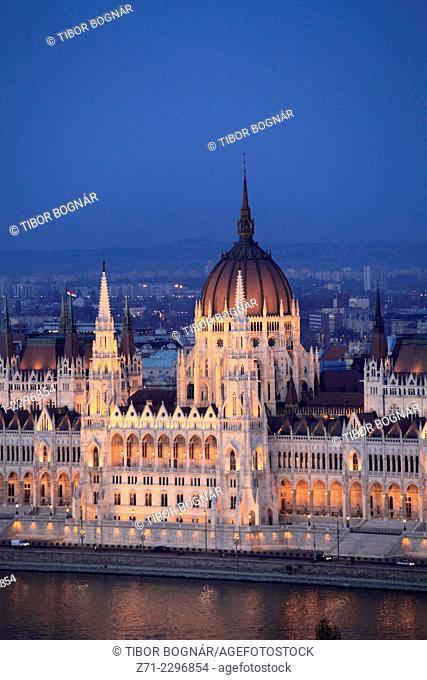 Hungary, Budapest, Parliament, Országház, Danube River