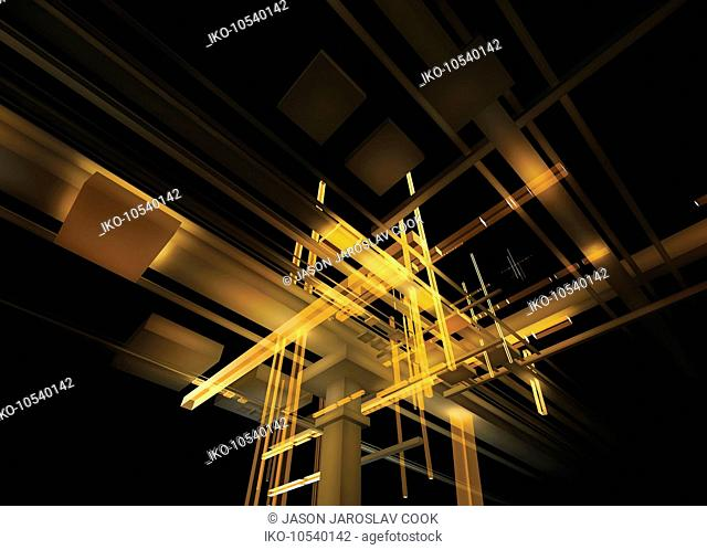Abstract structure of light beams and girders