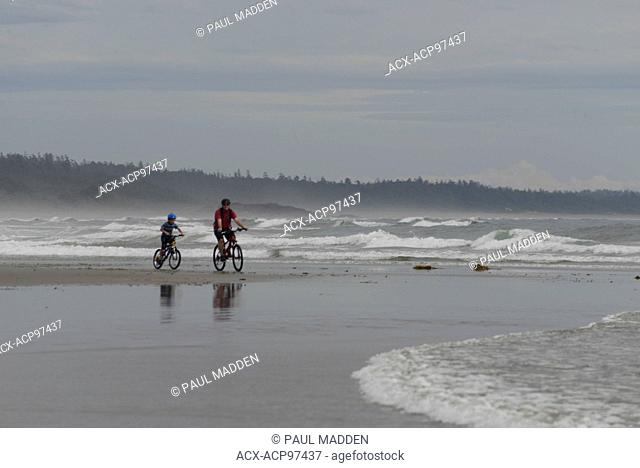 Bikes on Long Beach near Tofino, BC, Canada