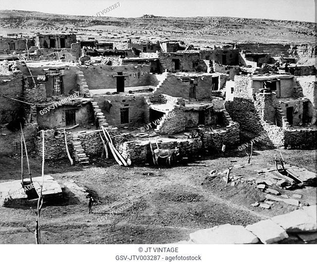 Oraibi, Hopi Village, Arizona, USA, circa 1901