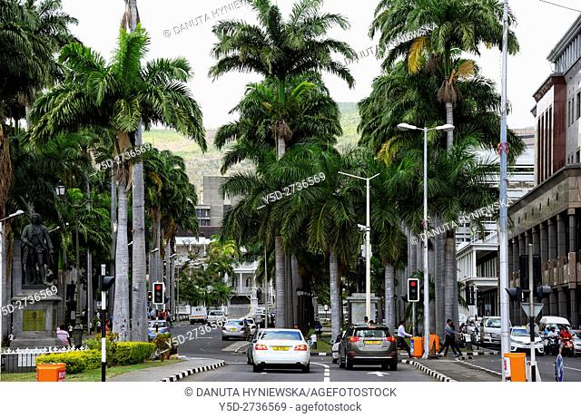 city center of Port Louis capital of Mauritius, Africa