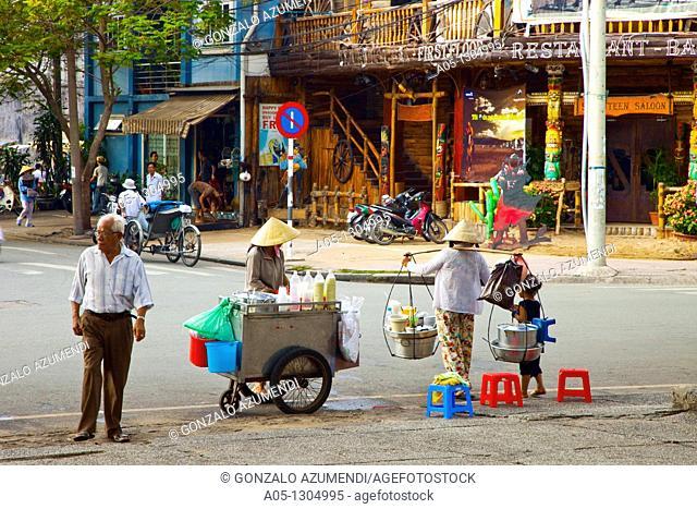 Street food. Ho Chi Minh City (formerly Saigon). South Vietnam