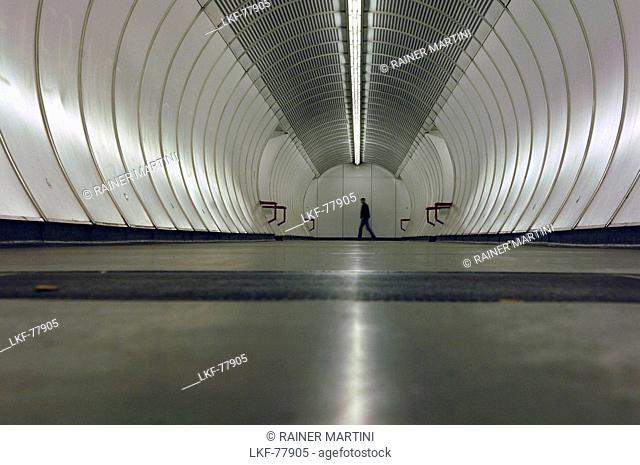 An underground station in Vienna, Austria