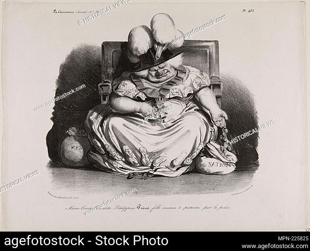 Marie Louise Charlotte Philippine Pairie, prostitute, licensed by the police - 1835 - Honoré Victorin Daumier (French, 1808-1879) published by Charles Philipon...