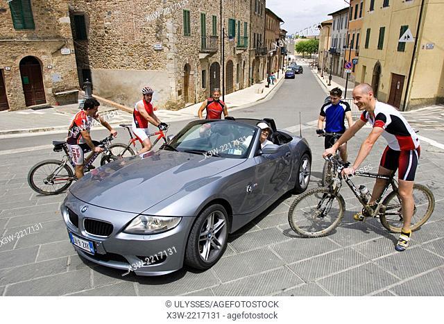 europe, italy, tuscany, monticiano, siena province