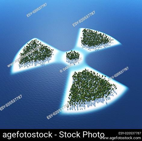 Radioaktiv - Insel Konzept