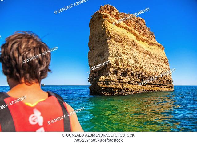 Marinha beach. Lagoa coast. Lagoa municipality. Faro district. Algarve. Portugal