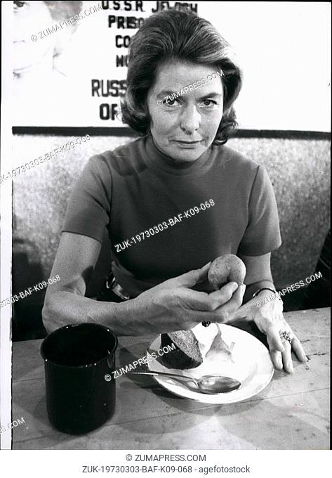 Mar. 03, 1973 - Ingrid Bergman attends Luncheon by the Women's Campaign for Soviet Jewry: Actress Ingrid Bergman, attended a luncheon this morning at the...