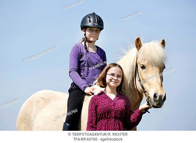 girl with Icelandic Horse