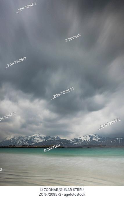 dramatic mood above Atlantic, Lofoten, Norway