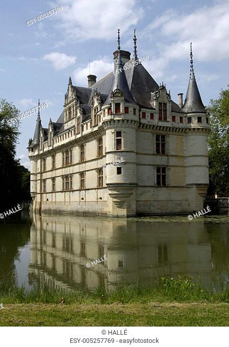 France, the renaissance castle of Azay le Rideau in Touraine