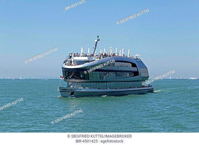Excursion boat, Lake Constance in Lindau, Bavaria, Germany