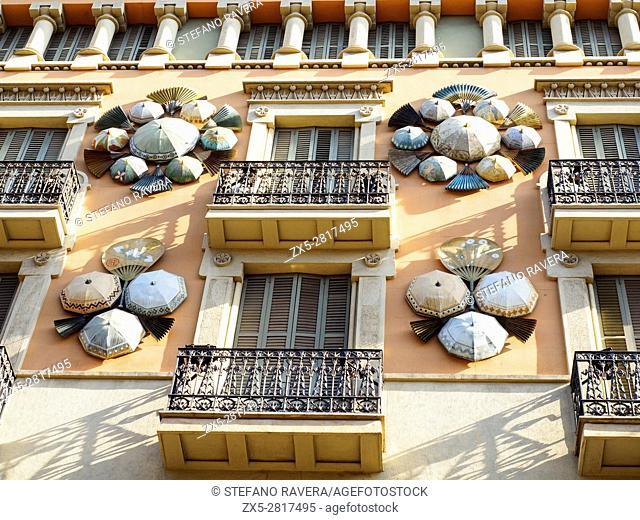 Building Facade - Barcelona, Spain