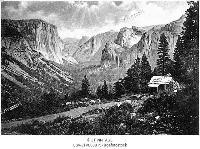 Yosemite, valley, landscape, California, historical