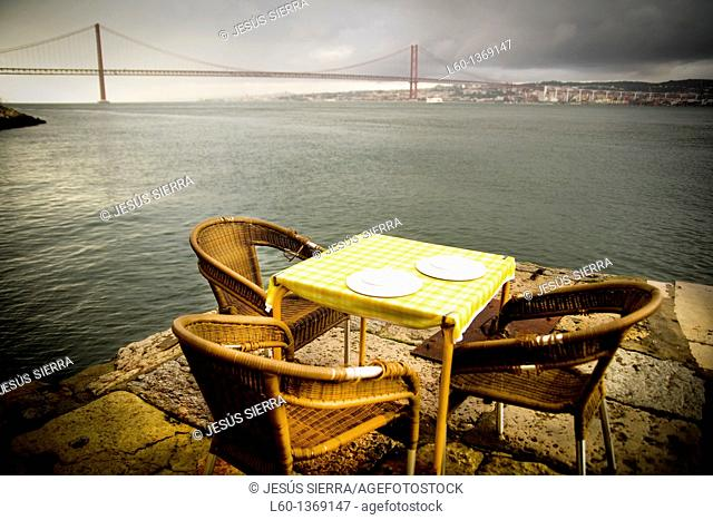 Ponto final restaurant, Cacilhas, Lisboa, Portugal