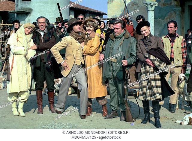 Italian actors Massimo Serato (Giuseppe Segato), Ugo Tognazzi and Mara Venier (Mara Provoleri), French-born Italian actress Edwige Fenech and Finnish actress...