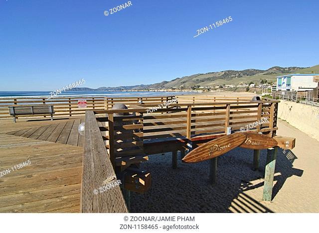 Pier of famous Pismo Beach in California
