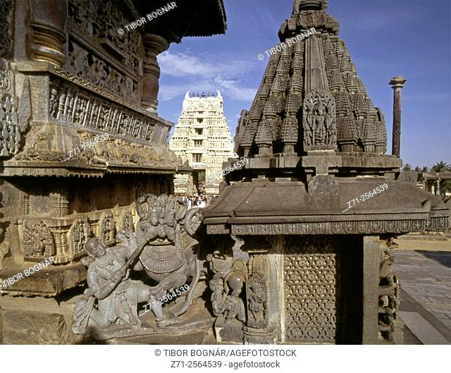 India, Karnataka, Belur, Channekeshava Temple,